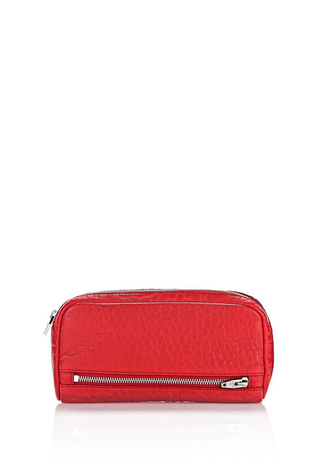 ALEXANDER WANG accessories-classics FUMO CONTINENTAL WALLET IN PEBBLED CULT WITH RHODIUM