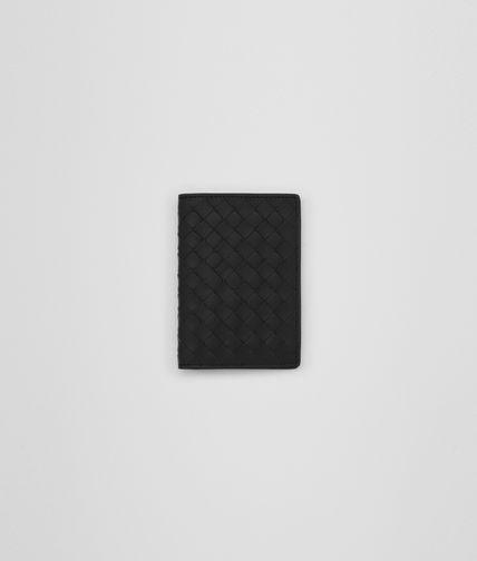 CARD CASE IN NERO INTRECCIATO NAPPA