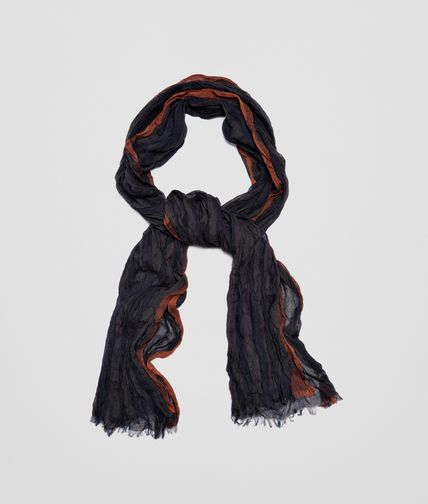 SCARF IN ANTHRACITE BLUE COTTON AND MODAL