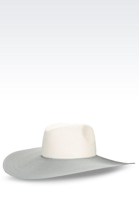 WIDE-BRIMMED HAT: Hats Women by Armani - 2