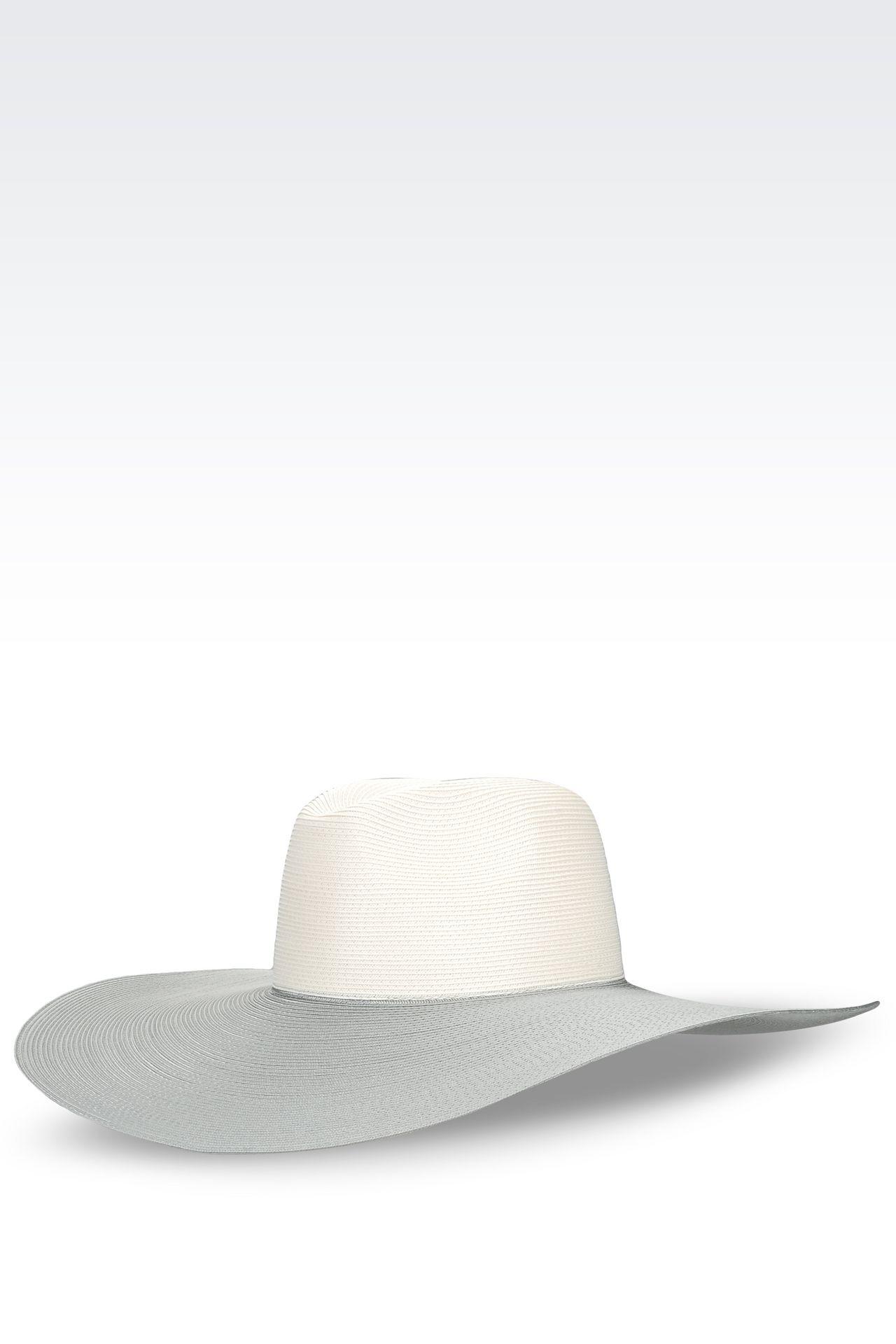 WIDE-BRIMMED HAT: Hats Women by Armani - 0