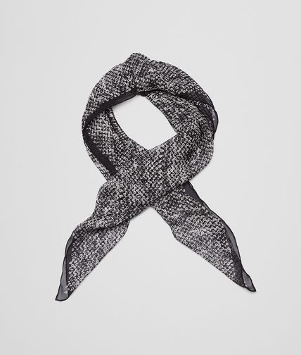 FOULARD IN WHITE BLACK SILK