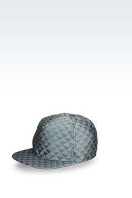 Armani Hats Men baseball cap in logoed fabric