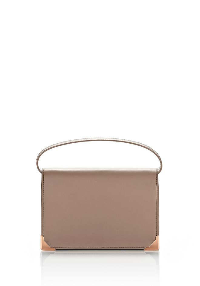 PRISMA BIKER PURSE IN LATTE WITH ROSE GOLD