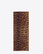 Signature Oversized Scarf in Ochre, Yellow and Black Punk Leopard Printed Wool Étamine