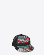 Trucker Hat in Multicolor Moon Discovery Cotton and Polyester Woven Jacquard