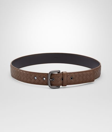 BELT IN NEW CIGAR INTRECCIATO VN