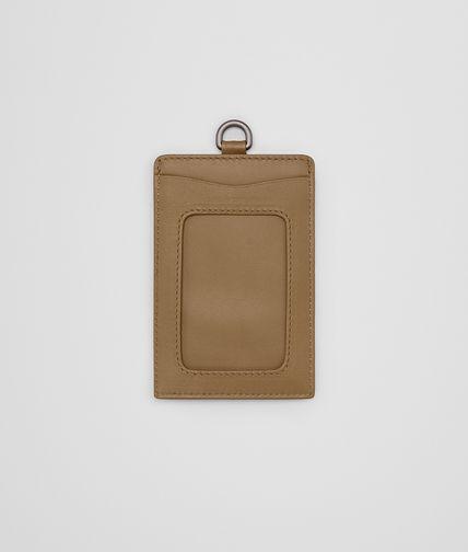 CARD CASE IN CAMEL INTRECCIATO NAPPA