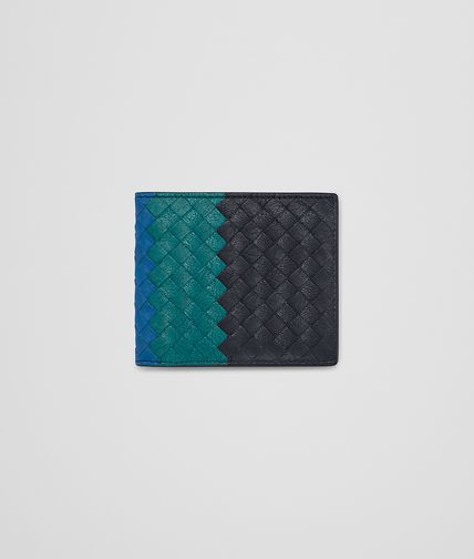 WALLET IN NEW DARK NAVY CANARD BLUETTE INTRECCIATO CLUB