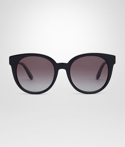 SUNGLASSES IN BLACK ACETATE SMOKE LENS