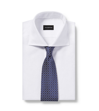 ERMENEGILDO ZEGNA: Cravate Bleu - 46439693DD