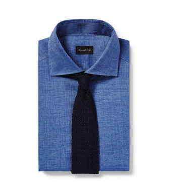 ERMENEGILDO ZEGNA: Corbata Azul marino - 46439702GQ