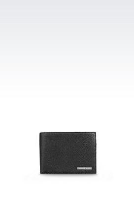 Armani Wallets Men bi-fold wallet in faux leather