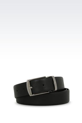 Armani Leather belts Men reversible calfskin belt