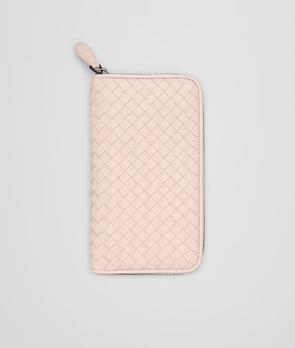 ZIP AROUND WALLET IN PETALE INTRECCIATO NAPPA