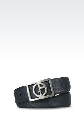 Armani Leather belts Men adjustable reversible leather belt