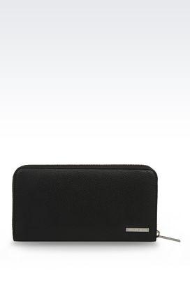 Armani Wallets Men zip-around wallet in faux leather