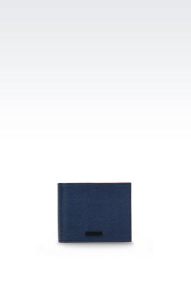 Armani Wallets Men bi-fold wallet in calfskin
