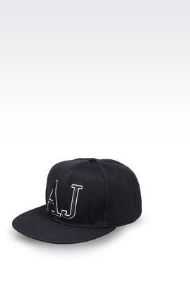 Armani Hats Men cotton baseball cap with logo