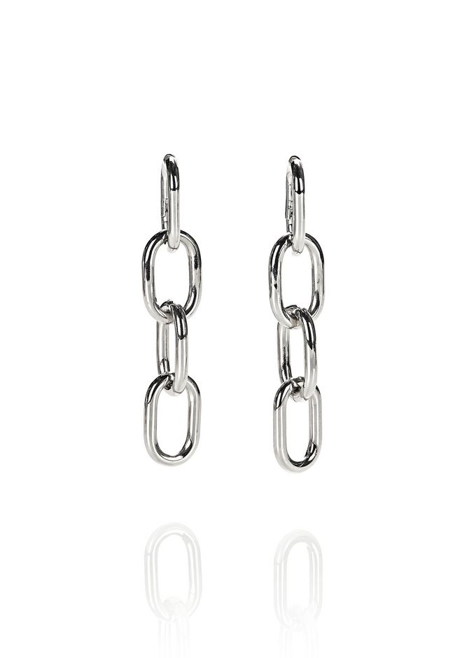 ALEXANDER WANG accessories-classics FOUR-LINK CHAIN EARRINGS IN RHODIUM