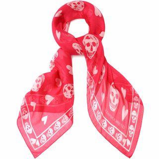 ALEXANDER MCQUEEN, Silk Scarf, Be My Valentine Scarf