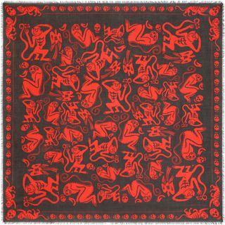 ALEXANDER MCQUEEN, Silk Fashion Scarf, Chinese New Year Scarf