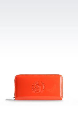 Armani Brieftaschen Für sie portemonnaie aus kunstlackleder mit logo