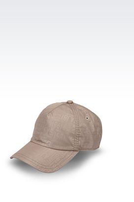Armani Hats Men baseball cap in logoed fabric