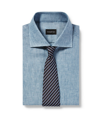 ERMENEGILDO ZEGNA: Cravate Bleu - 46443448OB