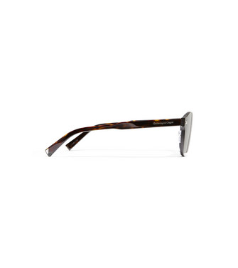 ERMENEGILDO ZEGNA: Sunglasses Dark brown - 46443449MM