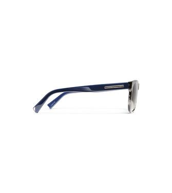 ERMENEGILDO ZEGNA: Occhiali Da Sole Blu - 46443456NQ