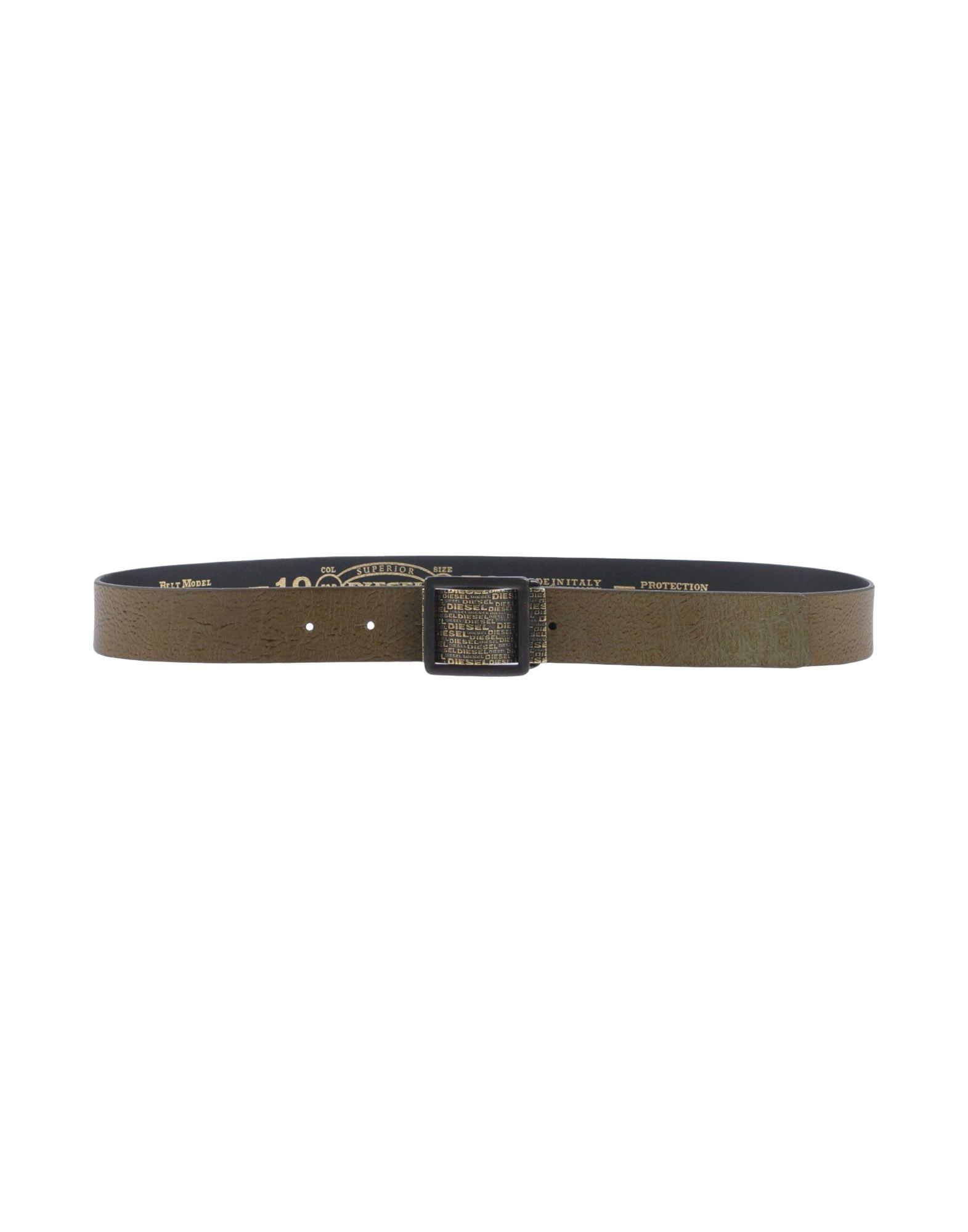 DIESEL BLACK GOLD Damen Gürtel Farbe Militärgrün Größe 6