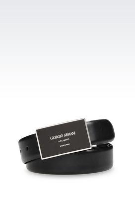 Armani Leather belts Men adjustable leather belt