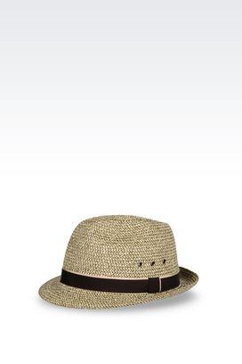 Armani Hats Men classic narrow-brimmed hat