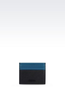 Armani Card holders Men credit card holder in calfskin