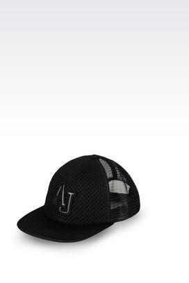 Armani Hats with visor Men fabric baseball cap with logo