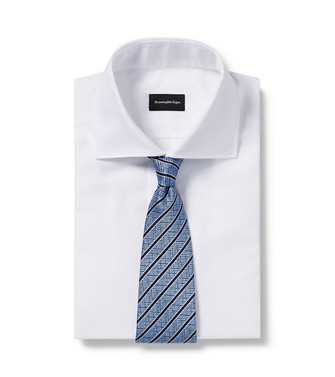 ERMENEGILDO ZEGNA: Cravate Bleu ciel - 46445164UP