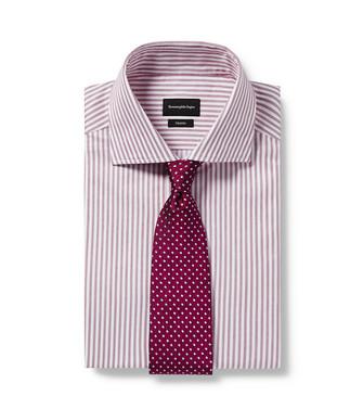 ERMENEGILDO ZEGNA: Cravate Mauve - 46445165AQ