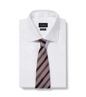 ERMENEGILDO ZEGNA: Cravate Aubergine - 46445171UO