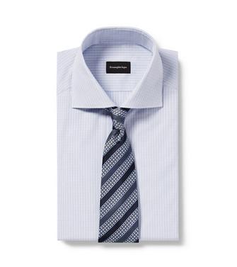 ERMENEGILDO ZEGNA: Cravate Bleu - 46445173OP