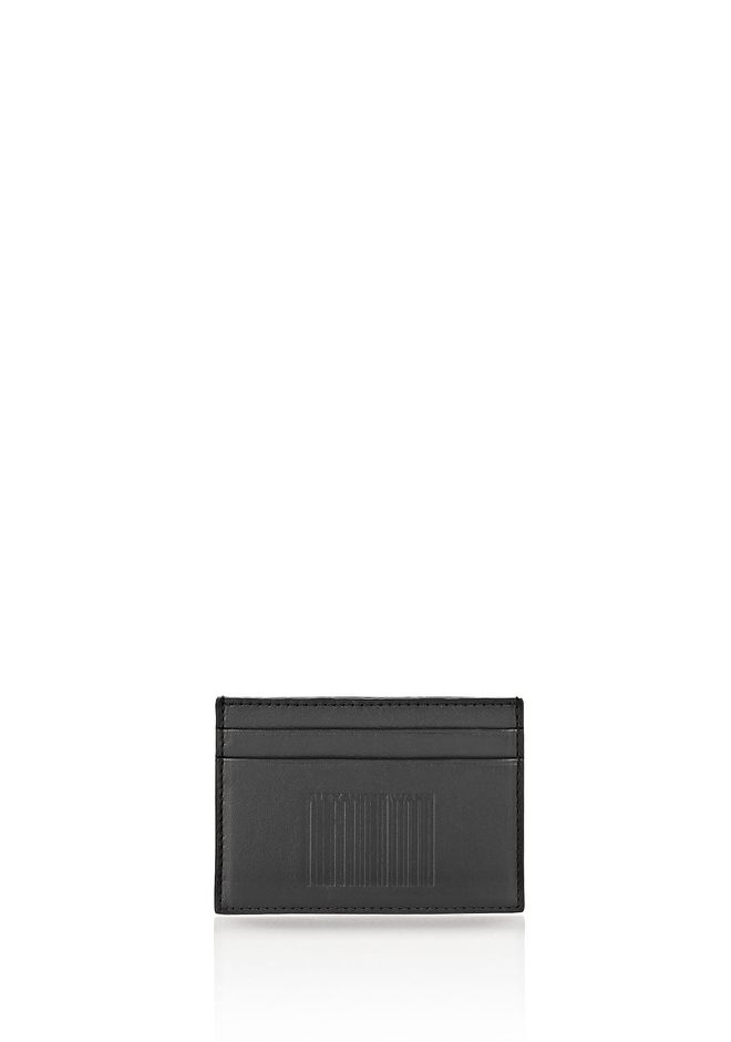ALEXANDER WANG accessories EMBOSSED LOGO CARDHOLDER IN BLACK