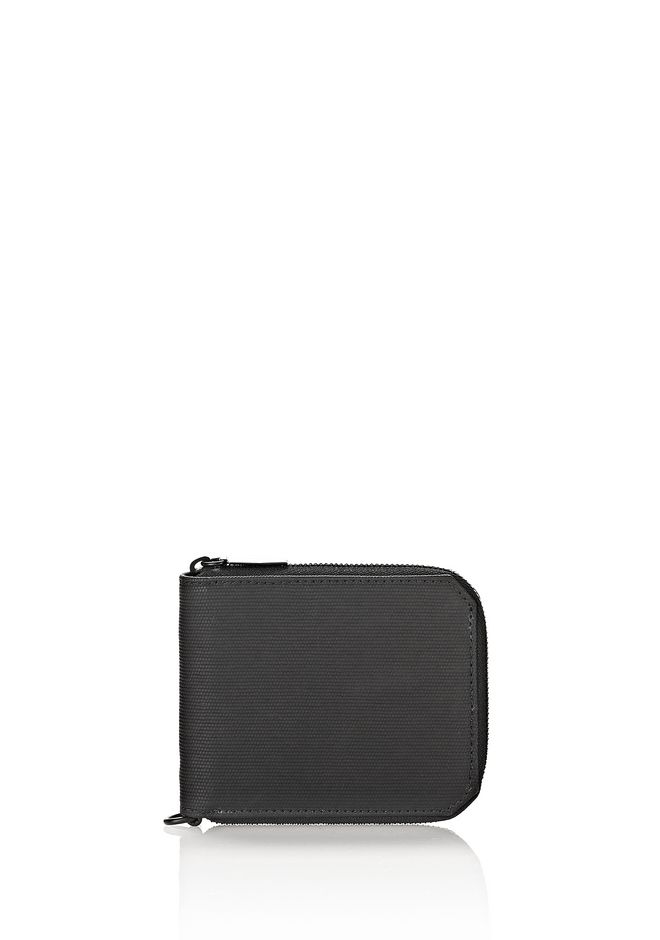 ALEXANDER WANG wallets ZIPPED BI-FOLD WALLET IN RUBBERIZED BLACK