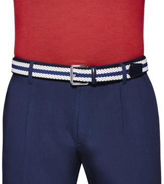ERMENEGILDO ZEGNA: Cinturón Azul marino - 46445975XJ