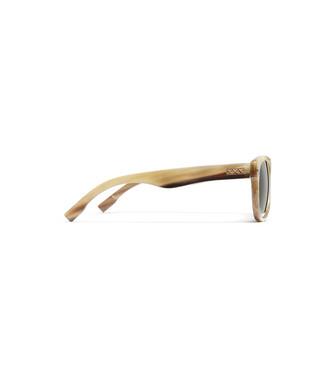 ERMENEGILDO ZEGNA: Occhiali Da Sole Beige - 46447255RP