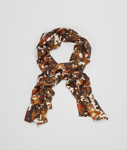 SCARF IN TEAKORANGE SILK COTTON