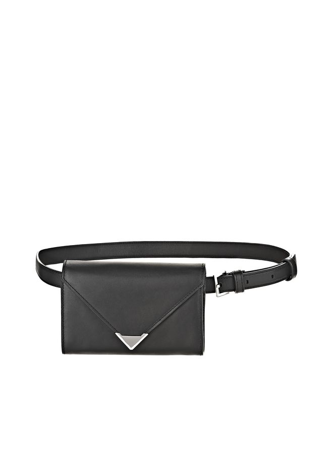 ALEXANDER WANG SMALL LEATHER GOODS Women PRISMA BELT BAG IN BLACK WITH RHODIUM