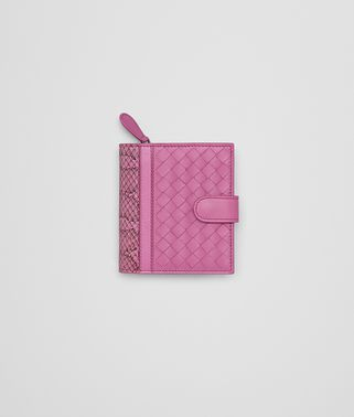 MINI WALLET IN PEONY INTRECCIATO NAPPA AND AYERS WITH MADRAS DETAIL