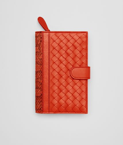 CONTINENTAL WALLET IN VESUVIO INTRECCIATO NAPPA AND AYERS WITH MADRAS DETAIL