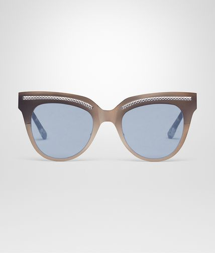 SUNGLASSES IN BRASS METAL WITH GREY LENS