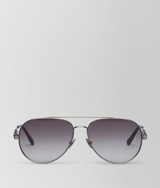 灰色镜片银色金属太阳眼镜